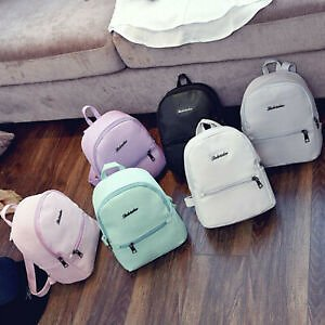 Design Girls Leather School Bag Travel Backpack Satchel Women Shoulder Bag Gifts