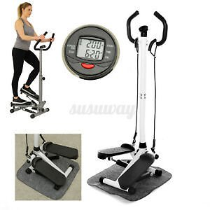 LCD Hydraulic Armrest Stepper Fitness Equipment Legs Arms Exercise Machine Home