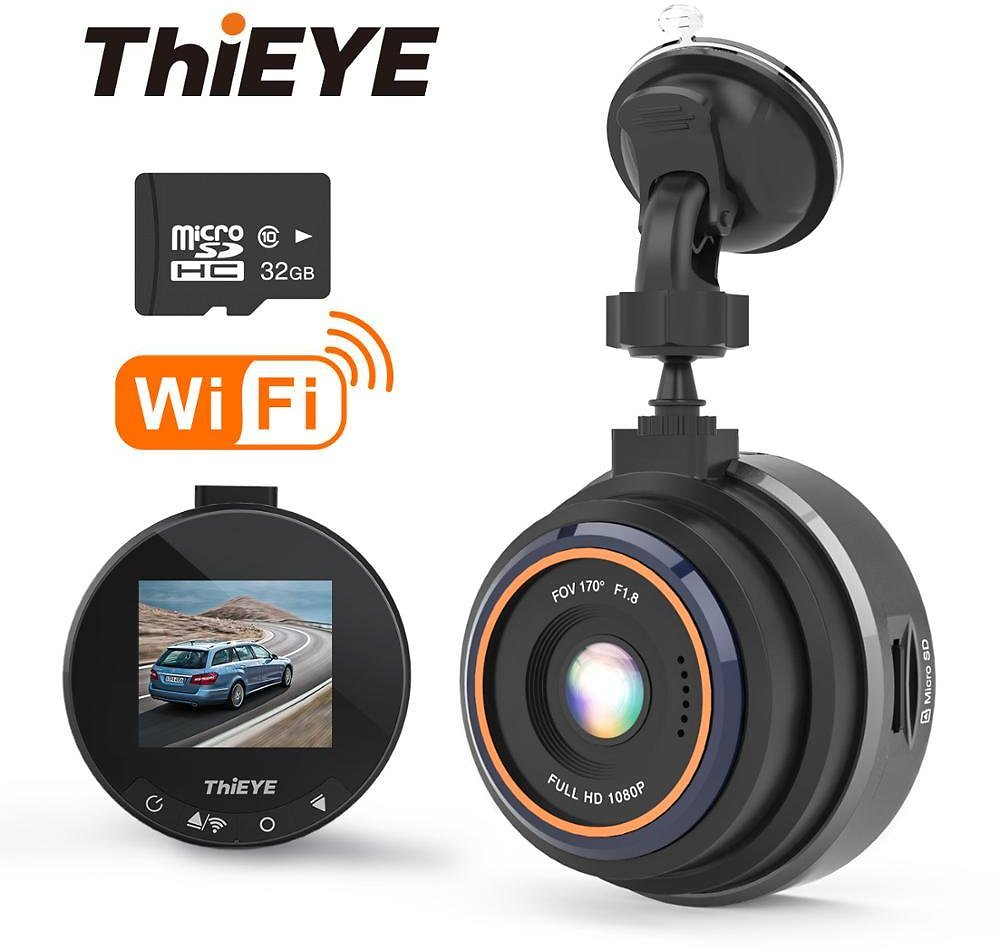 US $16.2 73% OFF|ThiEYE Safeel Zero+ Dash Cam WiFi Car DVR Real HD 1080P 170 Wide Angle With G Sensor Parking Mode Car Multi Angle Camera|DVR/Dash Camera| - AliExpress