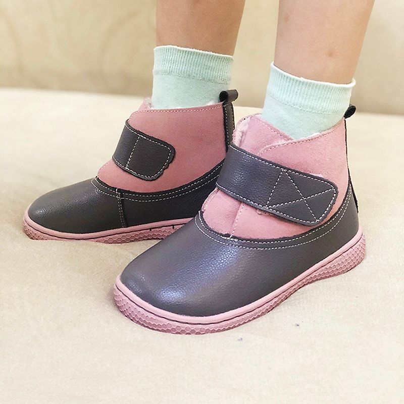 US $12.22 72% OFF PEKNY BOSA Kids Genuine Leather Sneakers Shoes Children Leather Boots Flat with Barefoot Shoes for Girls Boys Size 25 35 Boots Leather Shoes  - AliExpress