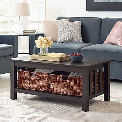 Forest Gate™ 40-Inch Contemporary Wood Coffee Table with Totes