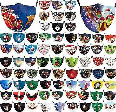 Washable Facemask Half Face Christmas Mouth Mark HipHop Cospaly Party One Size