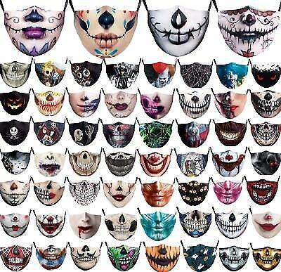 Funny Washable Facemask Half Face Mouth Mark HipHop Cospaly Party One Size Bib a