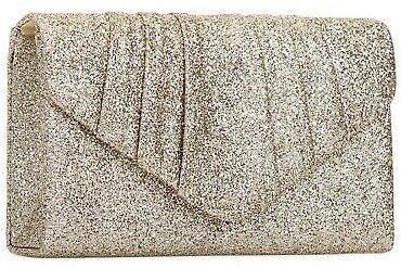Shinny Champagne Glitter Wedding Ladies Party Prom Evening Clutch Hand Bag Purse