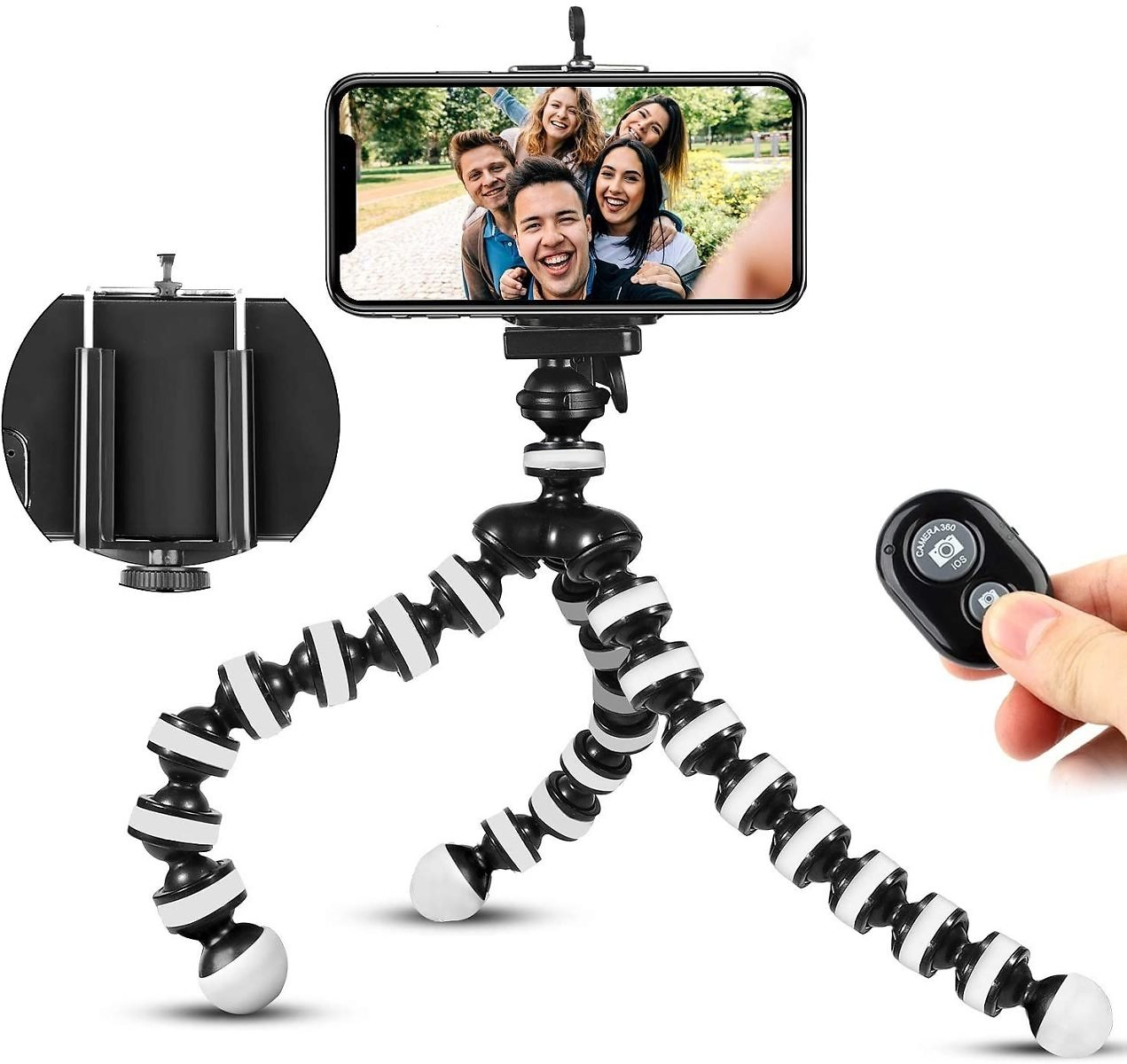 (Only $9.79) Flexible Phone Tripod with Wireless Remote for IPhone Android Phone Samsung Camera