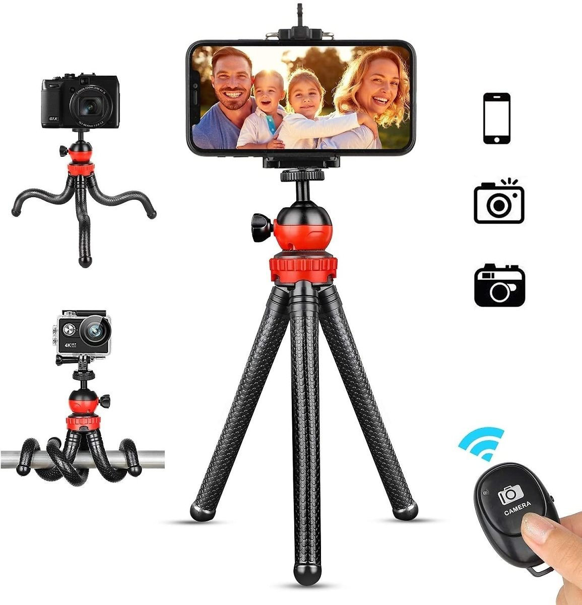 Prime Day Coupon 20% Deals Phone Tripod, Portable Cellphone Camera Tripod Stand with Wireless Remote