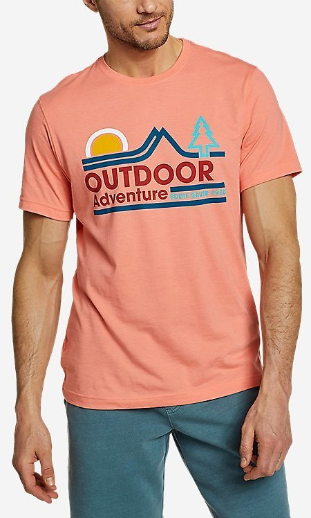 Men's Graphic T-shirt - Twin Ridge Adventure | Eddie Bauer