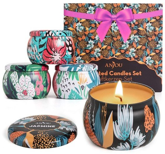 Essential Oil Scented Candle 4-Piece Gift Set