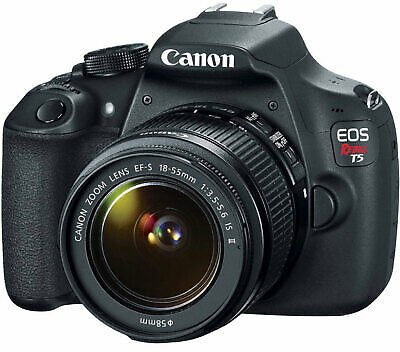 Canon EOS Rebel T5 18MP Digital SLR Camera With EF-S 18-55mm IS II Lens 8714574618289