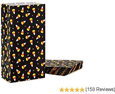 Hallmark Halloween Party Favor and Wrapped Treat Bags (15 Ct., Candy Corn) for Trick or Treating, Class Parties, Crafts and More