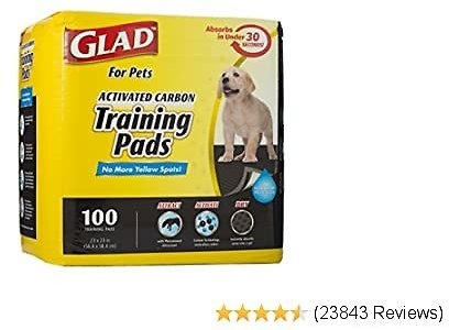 Glad for Pets Black Charcoal Puppy Pads   Puppy Potty Training Pads That Absorb & NEUTRALIZE Urine Instantly   New & Improved Quality