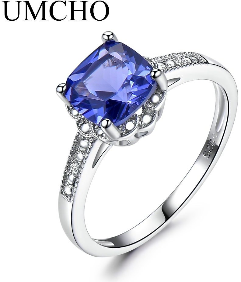 US $10.72 53% OFF|UMCHO Tanzanite Gemstone Rings for Women 925 Sterling Silver Ring Birthstone Engagement Wedding Romantic Valentines Jewelry New|Rings| - AliExpress
