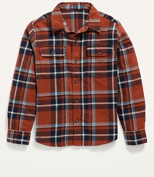 Built-In Flex Plaid Flannel Shirt for Boys | Old Navy