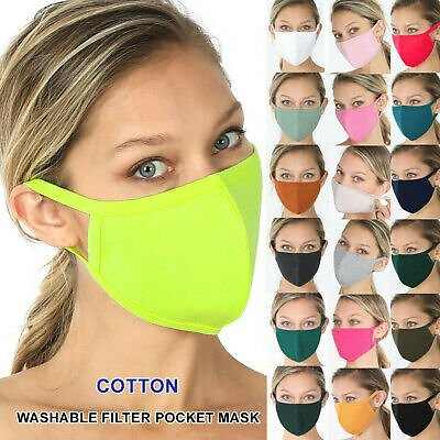 PM2.5 Face Cotton Mask Quick Tech Reusable Washable Protection Cover Breathable