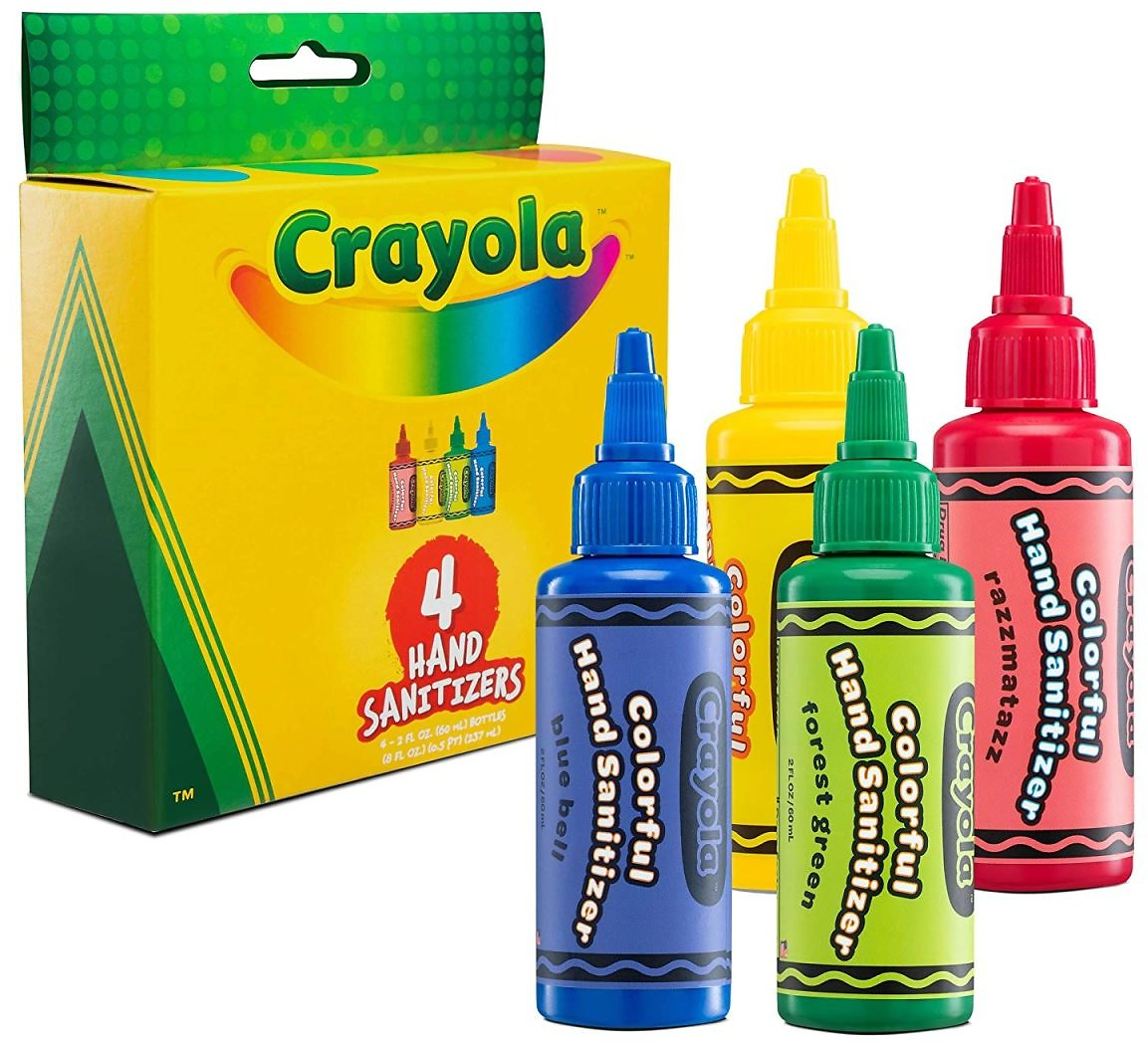 Prime Members: Pack of 4 Crayola Hand Sanitizer for Kids (2 Fl Oz/ea) for Only $9.99
