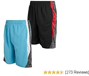 Mad Game Boys Athletic Performance Basketball Shorts (2 Pack)