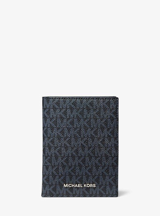 Bedford Travel Medium Logo Stripe Passport Wallet