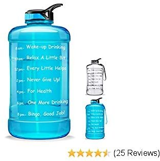 60% OFF 1 Gallon Motivational Water Bottle(Clear & Turquoise)