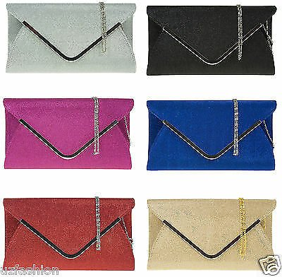 GLITTER SPARKLE WEDDING LADIES PARTY PROM EVENING CLUTCH HAND BAG PURSE