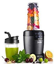 Jusseion Auto-Blend Smoothie Blender - 1200W Bullet Blender for Shakes and Smoothies - Easy Clean Countertop Blender with Touch