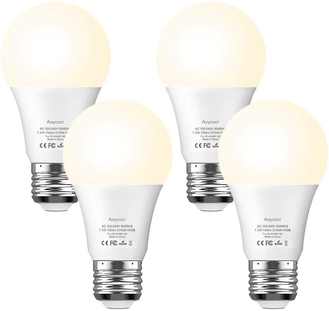 Aoycocr 65W-equivalent Smart Light Bulb 4-Pack