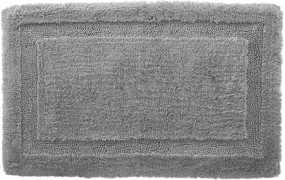 StyleWell Stone Gray 19 In. X 34 In. Non-Skid Cotton Bath Rug with Border-HMT425_Stone Gr