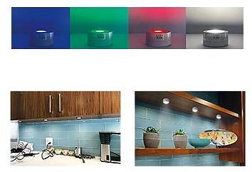 Easy Home 5 LED Puck Lights with Remote - 10/21