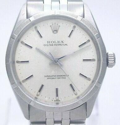 Vintage Rolex Oyster Perpetual Auto Ref. 1002 Cal. 1570 Man's Watch Circa ~ 1967