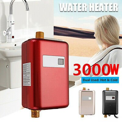 Electric Instant Hot Water Heater System Tankless Shower Kitchen Sink Tap Faucet