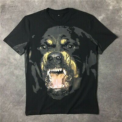 Luxury Mens Designer T Shirts Men Women Hip Hop T Shirt 3D Print Rottweiler Dog