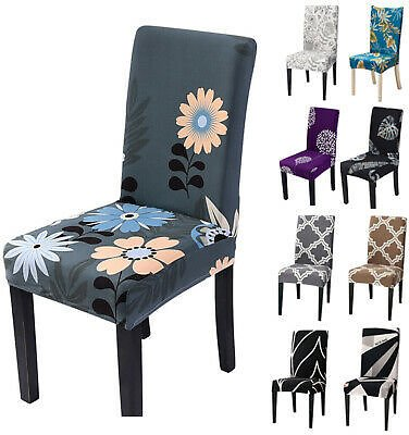 Wedding Decor Spandex Stretch Seat Cover Slipcover Chair Covers Floral Party