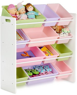 CLOSEOUT! Kids Toy Room Organizer with Totes, 12 Bins