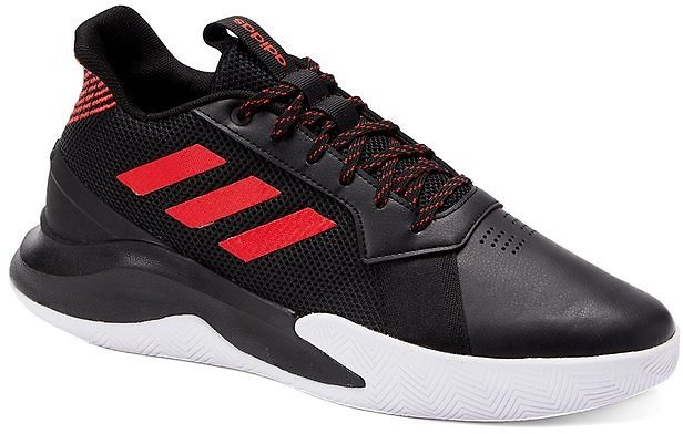Core Black & Active Red Run The Game Sneaker - Men
