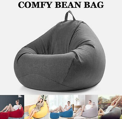 Large Bean Bag Cover Lazy Sofa Lounger Couch Arm Chair No Filler