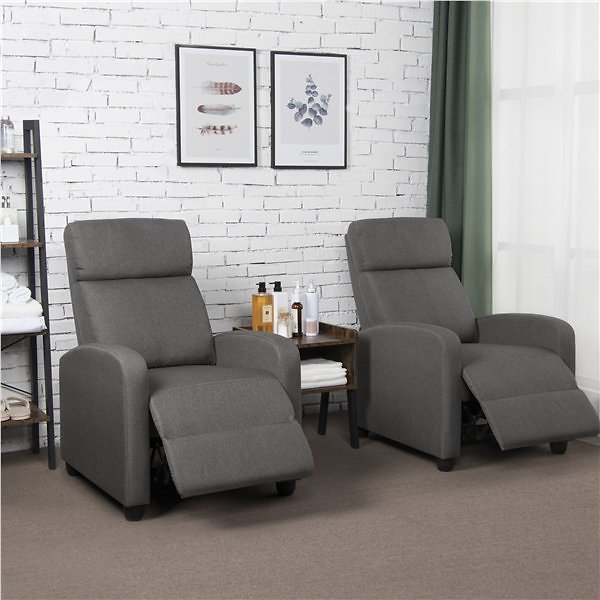Single Sofa Recliner Chair Home Theater Seating Club Chair Gray