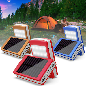 20000mAh Dual USB Portable Solar Battery Charger Power Bank LED For Cell Phone
