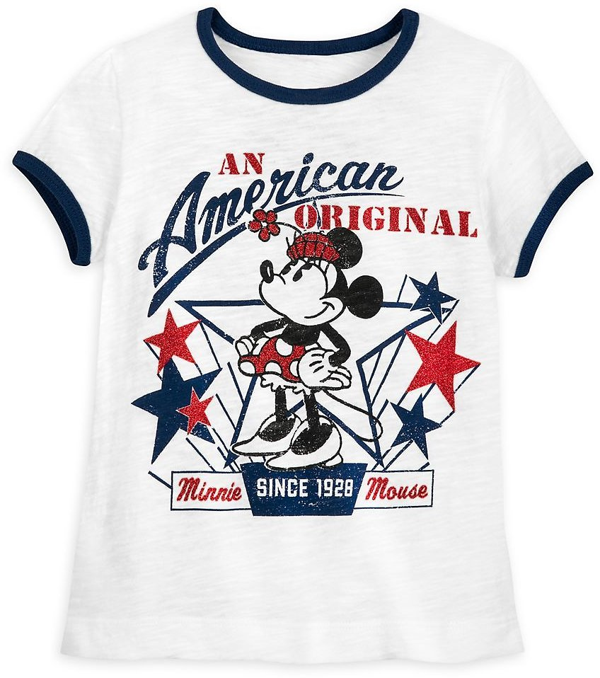Minnie Mouse Americana T-Shirt for Girls | ShopDisney