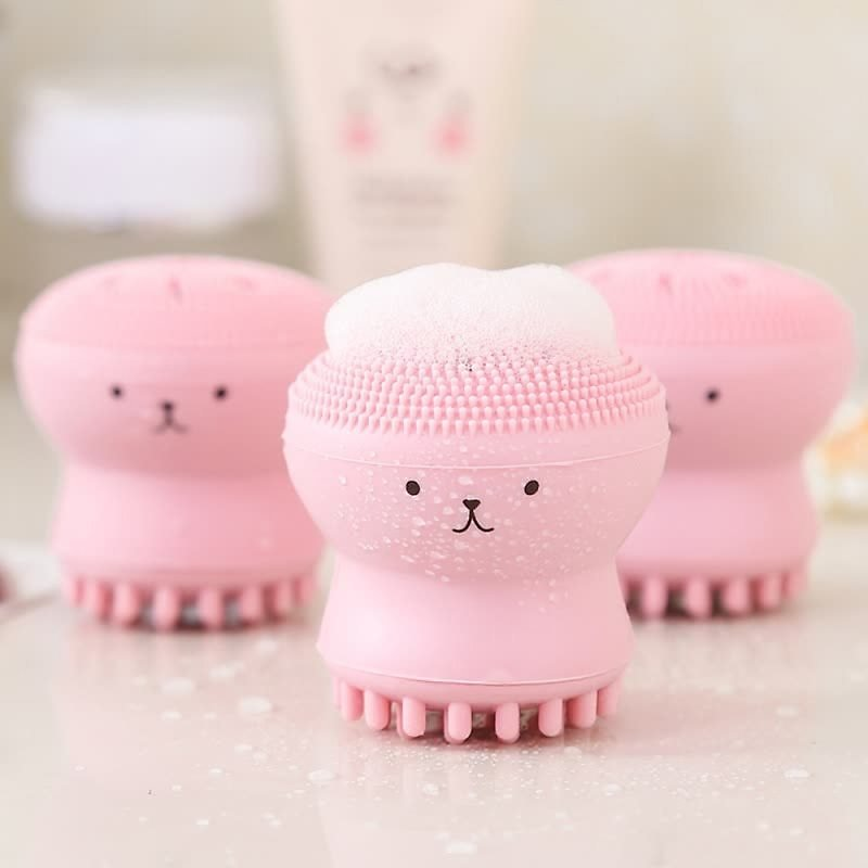 US $0.75 25% OFF|Silicone Face Cleansing Brush Facial Cleanser Pore Cleaner Cute Octopus Shape Exfoliator Face Scrub Face Scrub Washing Brush|Electric Face Cleanser| - AliExpress
