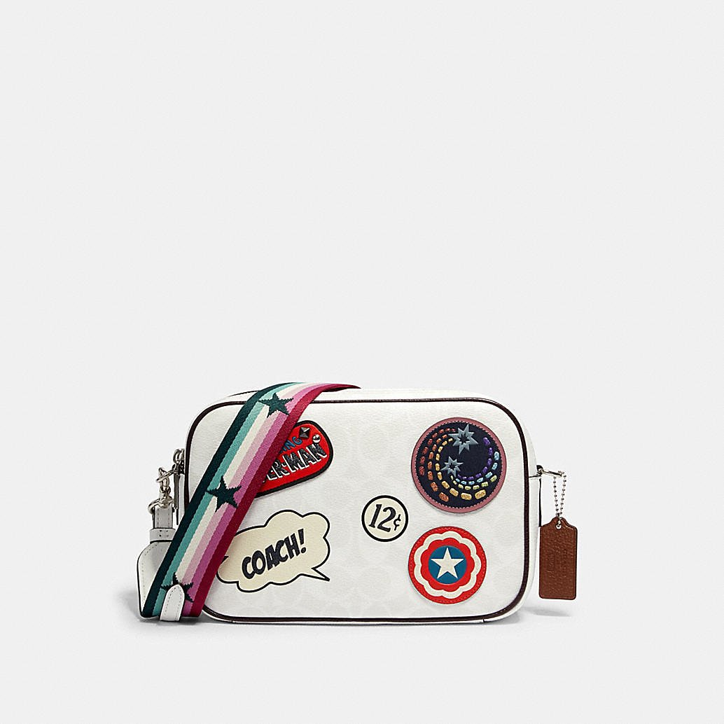 Coach │ Marvel Jes Crossbody in Signature Canvas With Patches