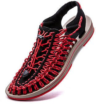 Mens New Summer Hollow Out Roped Roman Sport Sandals Lace Up Slingbacks Shoes D