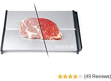 Professional Quick Food Defrosting Tray Thawing Plate Meat Defrosting Board, Frozen Food Thawing Plate Defrost Meat/Frozen Food Quickly for Frozen Meat, Fish, Vegetables, No Heating