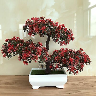 Fake Artificial Plants Bonsai Potted Plants Mini Simulation Pine Tree Home Decor