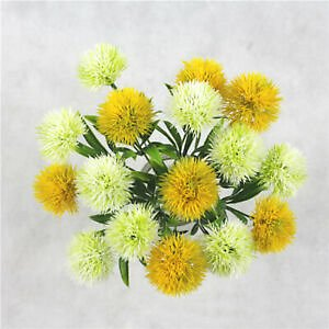 1PC Artificial Flowers Real Touch Dandelion Fake Plant Plastic Flower Home Decor