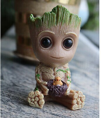 Groot Action Character Flowerpot Action Figures Tree Man Model Galaxy Planter
