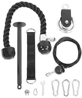 Home Fitness Gym Equipment Strength Training Kit Lift Pulley System+ Loading Pin