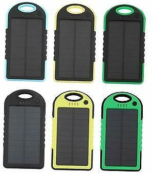 Solar Power Bank USB Battery Dual External For Phone Waterproof Charger Portable 5281638579488