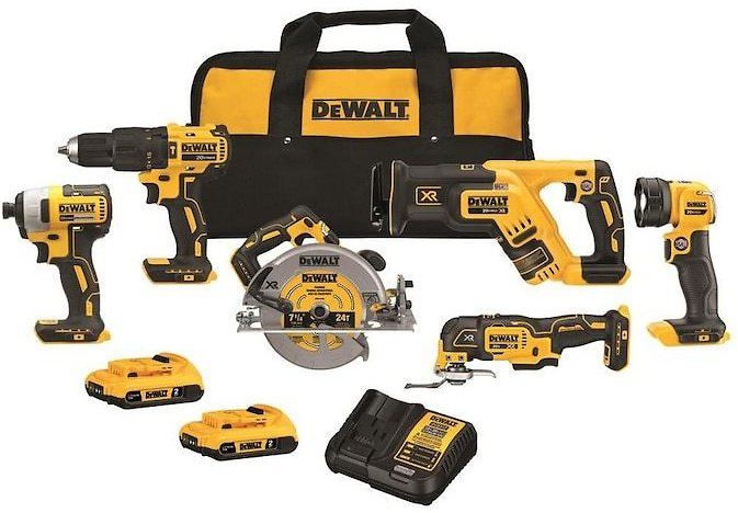 DEWALT 6-Tool 20-Volt Max Brushless Power Tool Combo Kit with Soft Case (Charger Included and 2-Batteries Included) Lowes.com