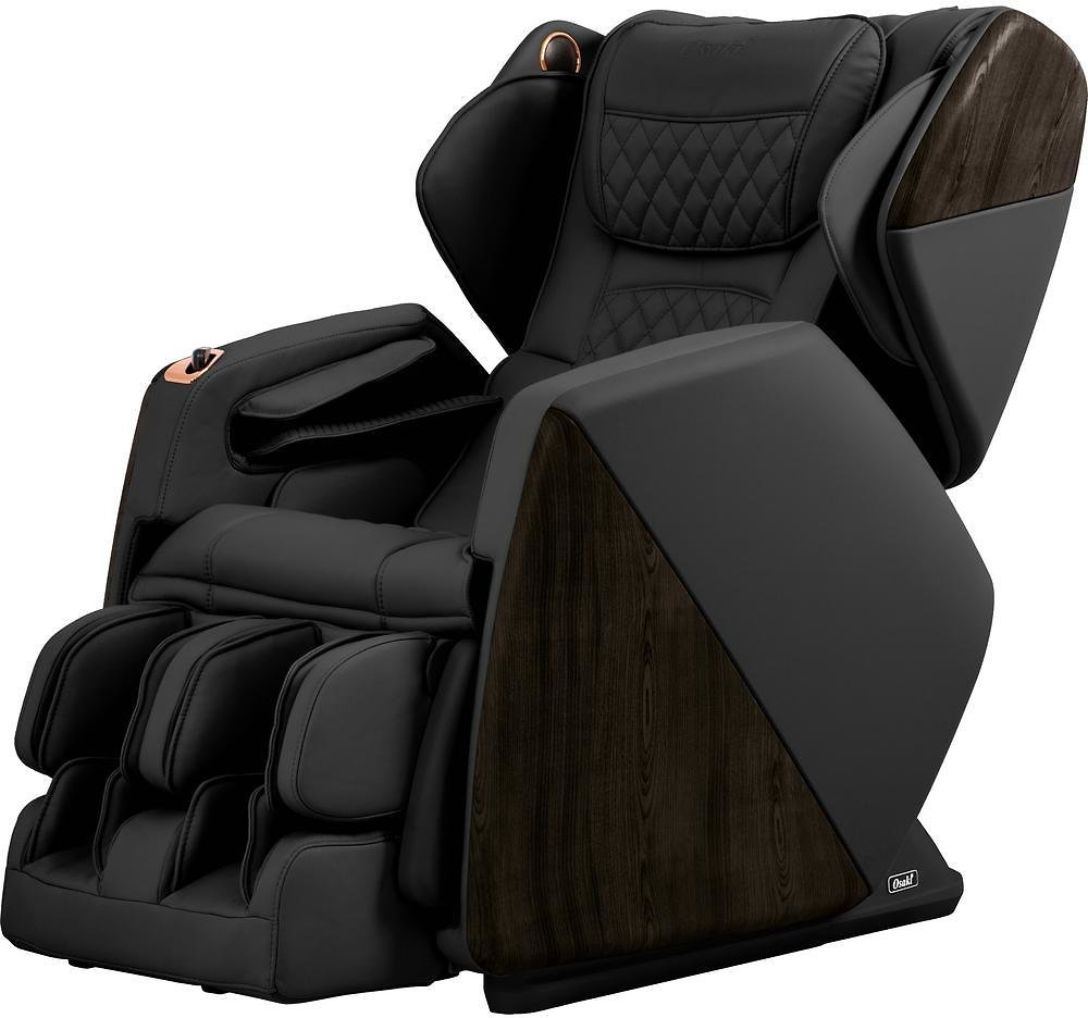 TITAN Pro Series Soho Black Faux Leather Reclining Massage Chair with Bluetooth Speakers and 4D Massage-OSPROSOHOBL
