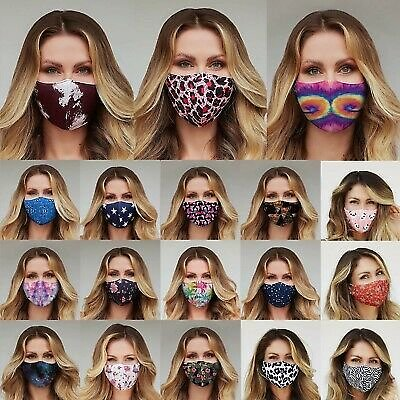 Face Mask Reusable Washable Fashion Unisex Printed Mask Mouth Cover