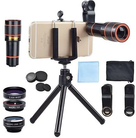 Apexel 4 in 1 Smartphone Camera System - $18.99 - Free Shipping for Prime Members